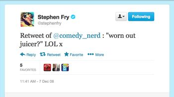 Stephen Fry LOLs Dom